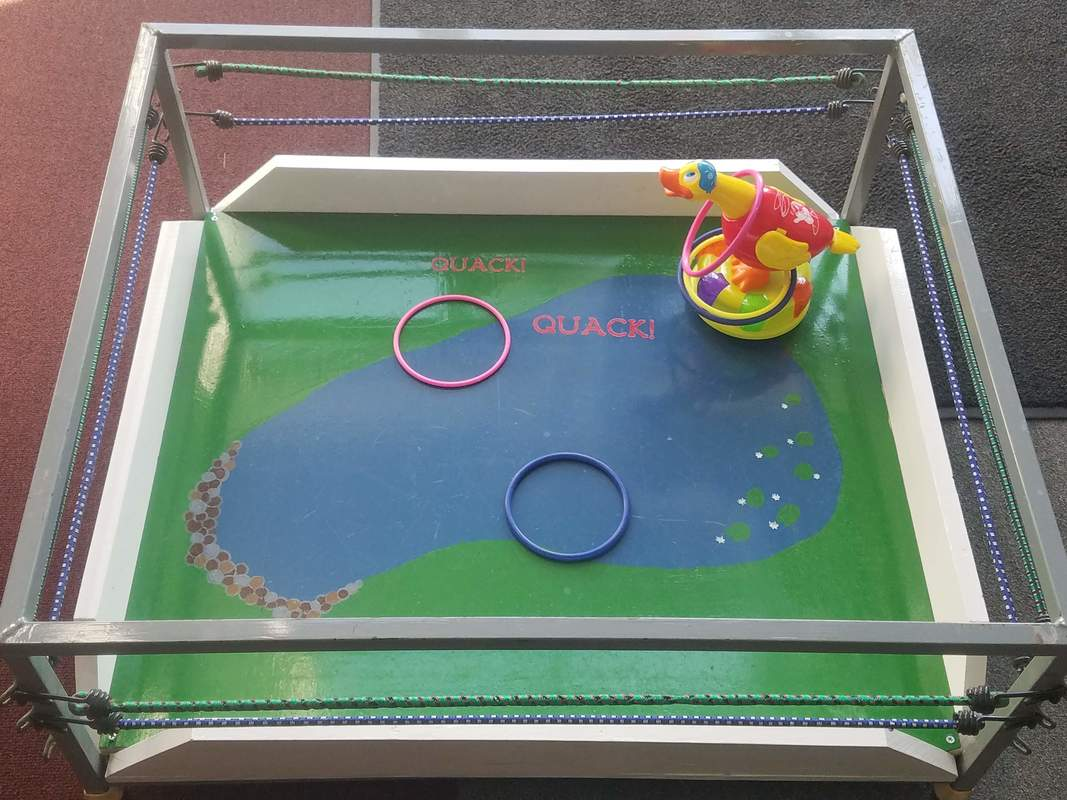 Toddler hoop game ducks